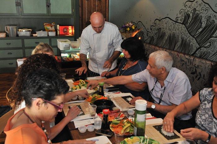 мастер класс приготовлению суши