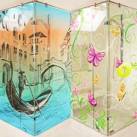 Компания IQDESIGN в Израиле. Изделия из стекла в Израиле. Печать на стекле в Израиле. Покраска стекла в Израиле.