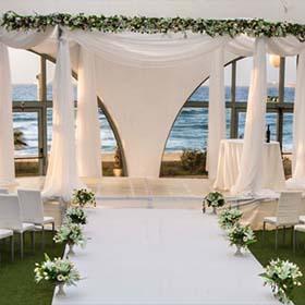 Зал торжеств в Ашдоде «Ахуза аль аям». Зал торжеств на берегу моря. Банкетный зал в Ашдоде.